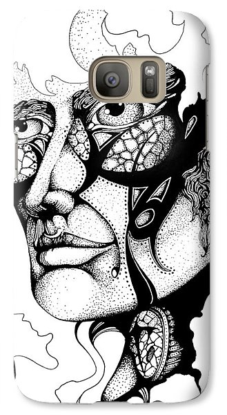 Galaxy Case featuring the drawing Lord Of The Flies Study by Curtiss Shaffer