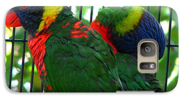 Galaxy Case featuring the photograph Lory by Greg Patzer