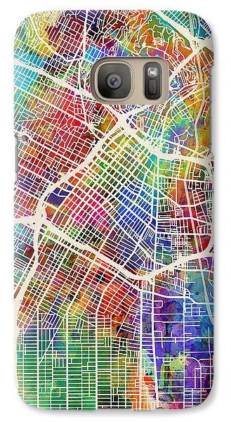 Los Angeles Galaxy S7 Case - Los Angeles City Street Map by Michael Tompsett