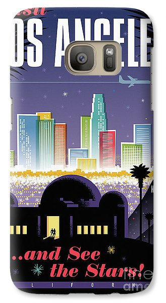 Los Angeles Retro Travel Poster Galaxy S7 Case