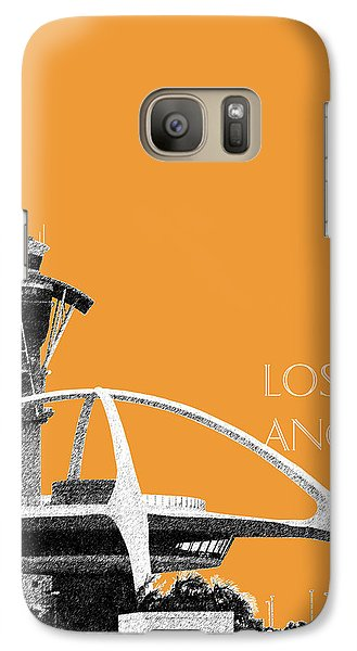 Los Angeles Skyline Lax Spider - Orange Galaxy S7 Case