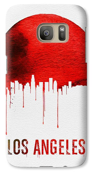 Los Angeles Skyline Red Galaxy S7 Case