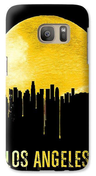 Los Angeles Skyline Yellow Galaxy S7 Case by Naxart Studio