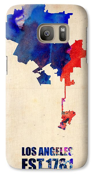Los Angeles Watercolor Map 1 Galaxy Case by Naxart Studio