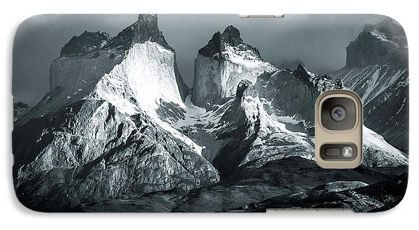 Galaxy Case featuring the photograph Los Cuernos In Black And White by Andrew Matwijec