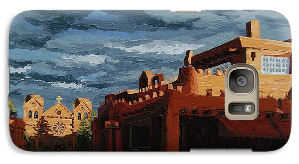 Galaxy Case featuring the painting Los Farolitos,the Lanterns, Santa Fe, Nm by Erin Fickert-Rowland