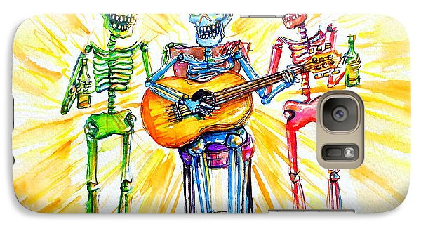 Galaxy Case featuring the painting Los Tres Cantantes by Heather Calderon