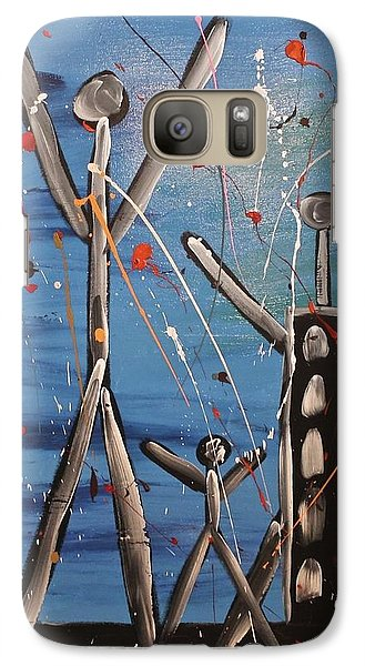 Galaxy Case featuring the painting Lost Cities 13-003 by Mario Perron
