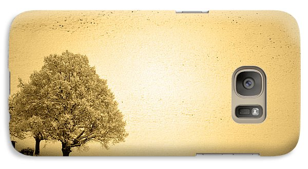 Galaxy Case featuring the photograph Lost In Snow - Winter In Switzerland by Susanne Van Hulst