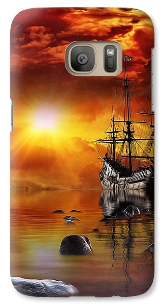 Galaxy Case featuring the mixed media Lost In Time by Gabriella Weninger - David