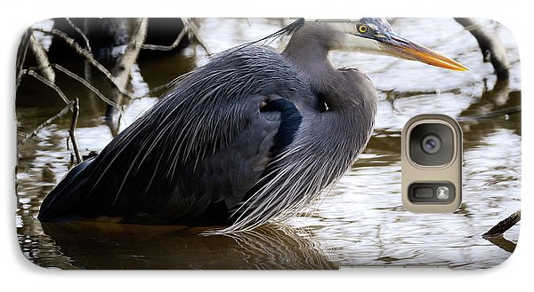 Galaxy Case featuring the photograph Lost Lagoon Great Blue Heron 1 by Terry Elniski