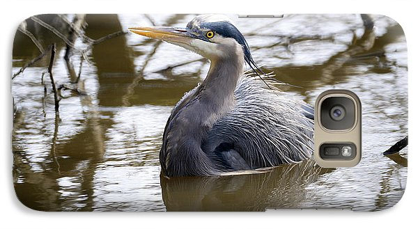 Galaxy Case featuring the photograph Lost Lagoon Great Blue Heron 2 by Terry Elniski
