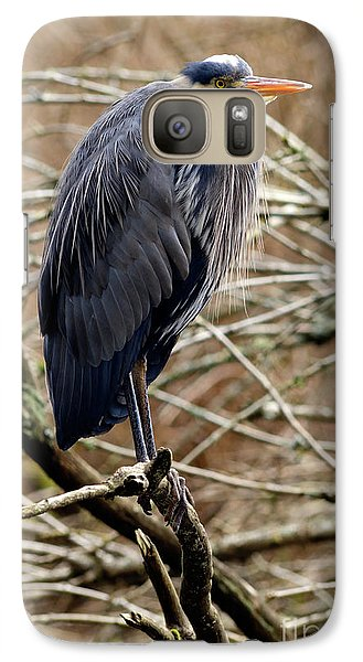Galaxy Case featuring the photograph Lost Lagoon Great Blue Heron 4 by Terry Elniski