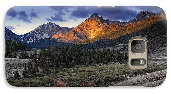 Galaxy Case featuring the photograph Lost River Mountains Moon by Leland D Howard