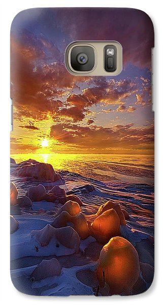 Galaxy Case featuring the photograph Lost Titles, Forgotten Rhymes by Phil Koch