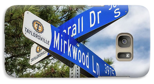 Galaxy Case featuring the photograph Lotr Mirkwood Street Signs by Gary Whitton