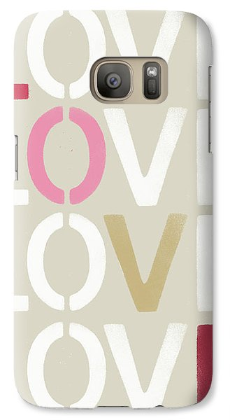 Galaxy Case featuring the mixed media Lots Of Love- Art By Linda Woods by Linda Woods