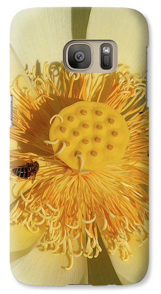 Galaxy Case featuring the photograph Lotus Flower by Carolyn Dalessandro