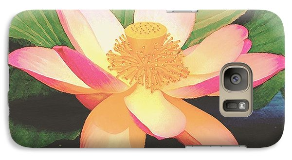 Galaxy Case featuring the painting Lotus Flower by Sophia Schmierer