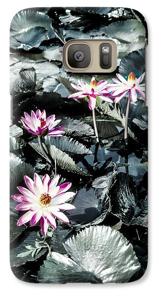 Galaxy Case featuring the photograph Lotus Flowers by Randy Sylvia
