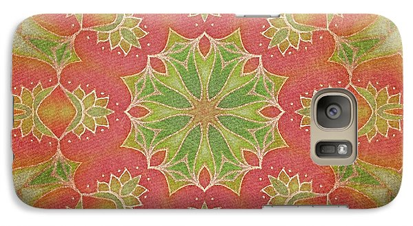 Galaxy Case featuring the drawing Lotus Garden by Mo T