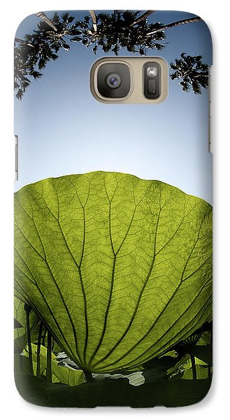 Galaxy Case featuring the photograph Lotus Leaf by Harry Spitz