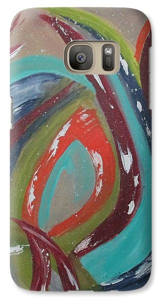 Galaxy Case featuring the painting Lotus Reborn by Sharyn Winters