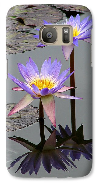 Galaxy Case featuring the photograph Lotus Reflection 4 by David Dunham
