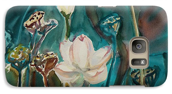Galaxy Case featuring the painting Lotus Study I by Xueling Zou