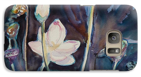 Galaxy Case featuring the painting Lotus Study II by Xueling Zou