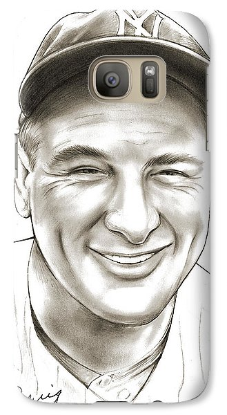 New York Yankees Galaxy S7 Case - Lou Gehrig by Greg Joens