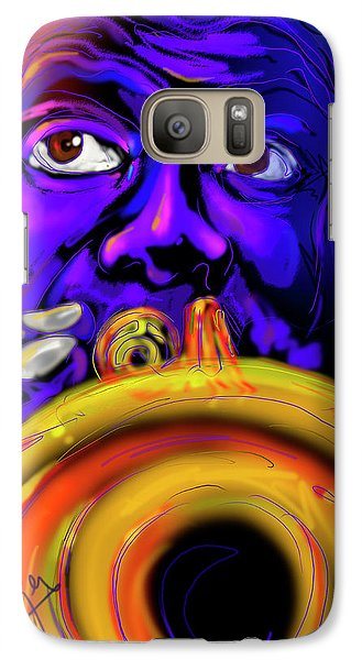 Galaxy Case featuring the painting Louie by DC Langer