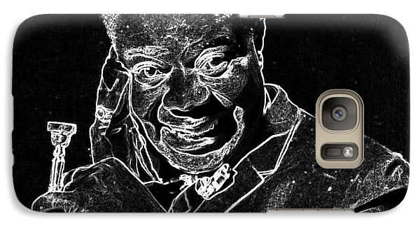Galaxy Case featuring the mixed media Louis Armstrong by Charles Shoup
