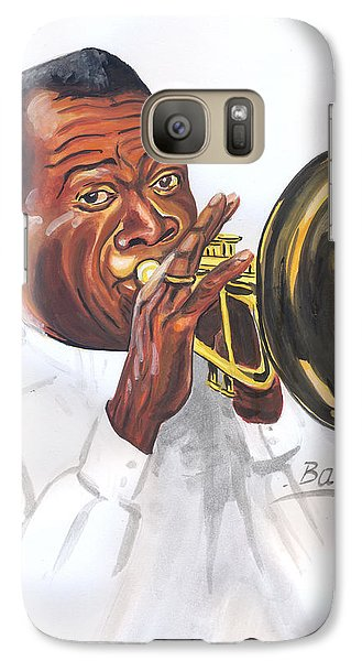 Galaxy Case featuring the painting Louis Armstrong by Emmanuel Baliyanga