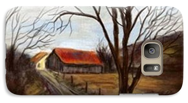 Galaxy Case featuring the painting Louisa Kentucky Barn by Gail Kirtz