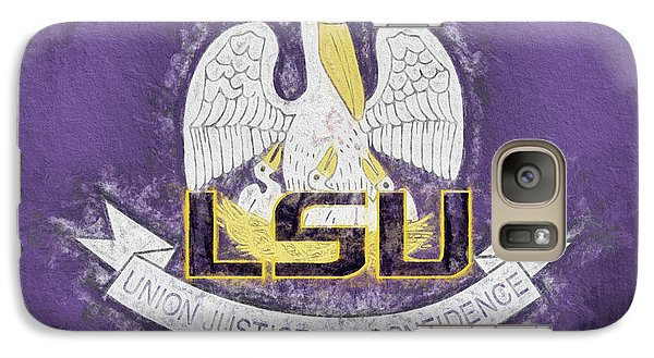 Galaxy S7 Case featuring the digital art Louisiana Lsu State Flag by JC Findley