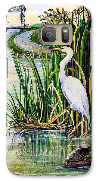 Egret Galaxy S7 Case - Louisiana Wetlands by Elaine Hodges