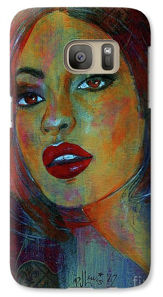 Galaxy Case featuring the painting Lourdes At Twilight by P J Lewis
