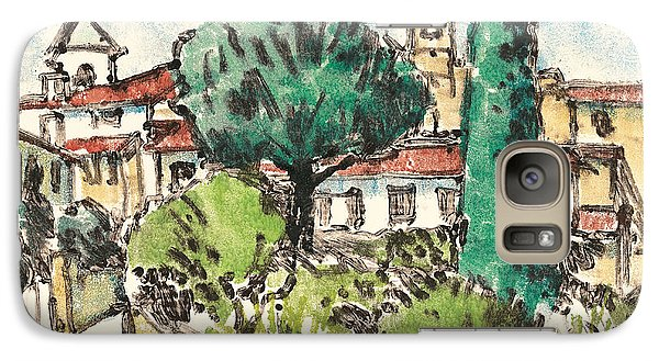 Galaxy Case featuring the painting Lourmarin Provence by Martin Stankewitz