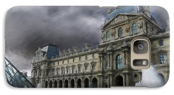 Galaxy Case featuring the mixed media Louvre by Jim  Hatch