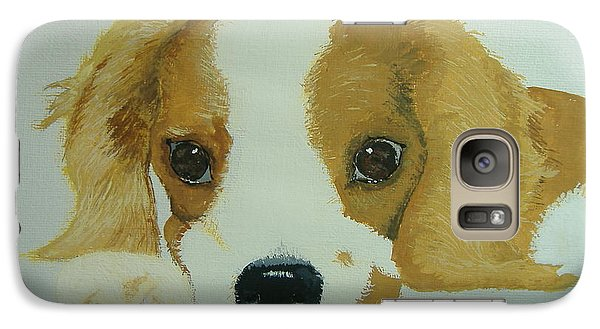 Galaxy Case featuring the painting Lovable Puppy by Norm Starks