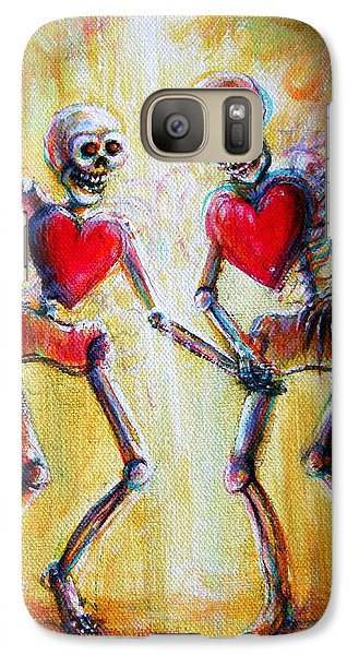 Galaxy Case featuring the painting Love 2 Love by Heather Calderon