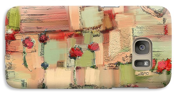 Galaxy Case featuring the mixed media Love Abstract by Carrie Joy Byrnes