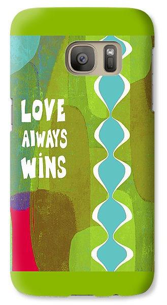 Galaxy Case featuring the painting Love Always Wins by Lisa Weedn