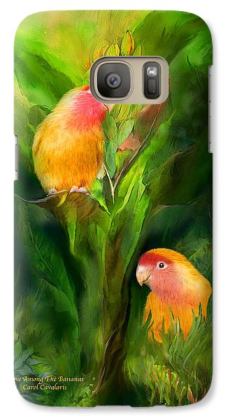 Love Among The Bananas Galaxy Case by Carol Cavalaris