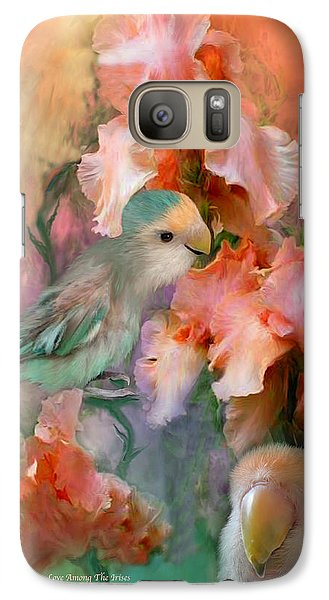 Love Among The Irises Galaxy Case by Carol Cavalaris