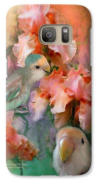 Love Among The Irises Galaxy S7 Case by Carol Cavalaris