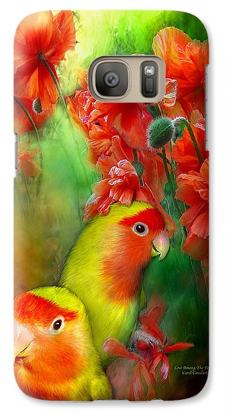 Love Among The Poppies Galaxy S7 Case