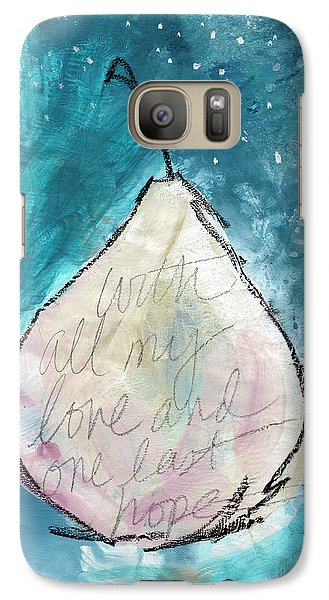 Pear Galaxy S7 Case - Love And Hope Pear- Art By Linda Woods by Linda Woods