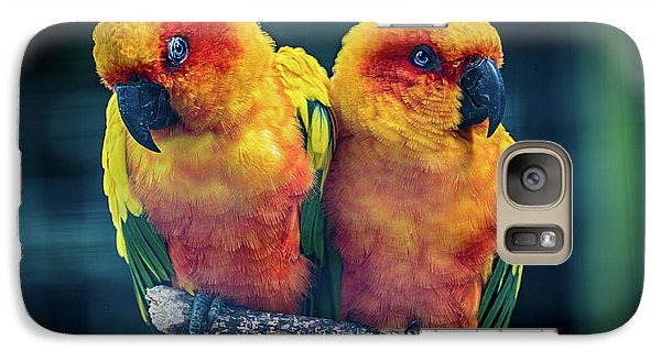 Galaxy Case featuring the photograph Love Birds by Chris Lord